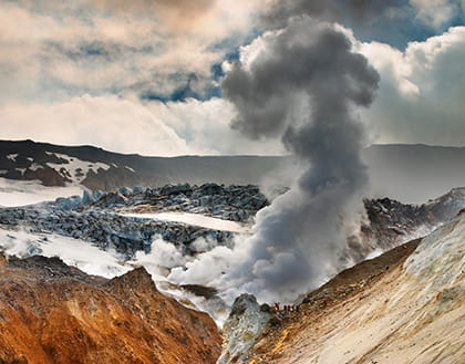 Ascent to Volcano Mutnovsky