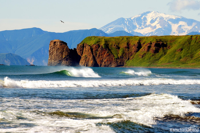 Surfing in Kamchatka