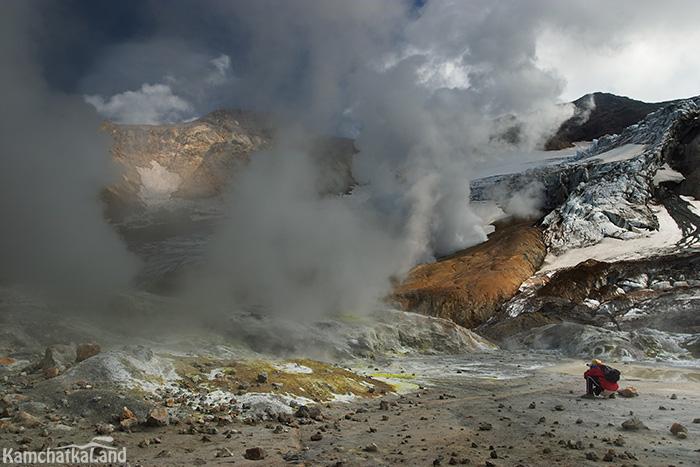 съемка внутри кратера