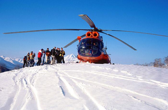 хели-ски тур на Камчатке