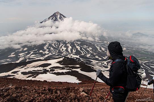ascending in summer in Kamchatka
