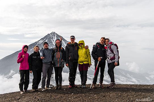 the top of Avacha volcano